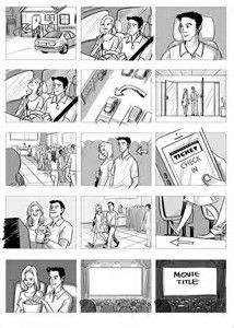 Résultat d'images pour commercial storyboards