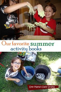 Our favorite summer activity books | One Mama's Daily Drama <-- Lots of ideas for things to do with the kids!