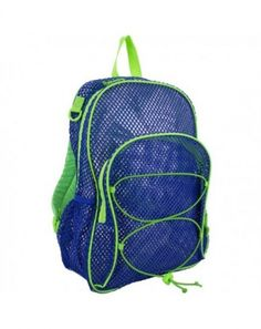 Buy Mesh Bungee Backpack With Padded Shoulder Straps - Indigo - and More Fashion Bags at Affordable Prices. Best Kids Backpacks, Men's Backpacks, Mesh Backpack, Drawstring Backpack, Fashion Bags, Fashion Backpack, Mens Fashion, Indigo, Shoulder Straps