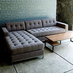 versatile bi-sectional. Tufted Grey Modern