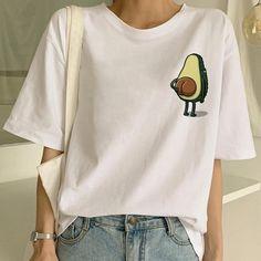 Great T Shirts, Cute Tshirts, T Shirts For Women, Harajuku, Vegan T Shirt, Avocado Shirt, New Style Tops, Mode Top, Vogue