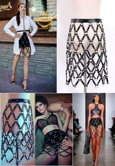 Top Gothic Fashion Tips To Keep You In Style. As trends change, and you age, be willing to alter your style so that you can always look your best. Consistently using good gothic fashion sense can help Cage Skirt, Leather Harness, Festival Outfits, Rock, Gothic Fashion, Diy Clothes, Grunge, Creations, Style Inspiration