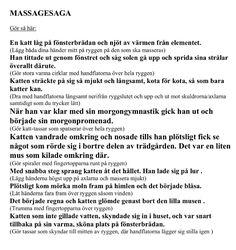 Massagesaga Learn Swedish, Swedish Language, Calm Down, Massage, Preschool, Parenting, Mindfulness, Education, Communication