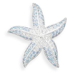 Blue and Clear Swarovski Crystal Starfish Fashion Pin Driscoll's Jewelry & Gifts. $26.25. Save 42%!