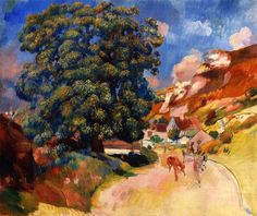 Pierre-Auguste Renoir, A Large Tree by the Road (1886)