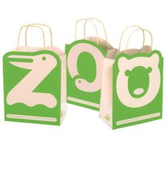 """We love this San Fran Zoo packaging... not only are your kids going to WANT to carry the bag, but it has a huge """"I want to reuse this!"""" factor which should be any retailers goal. #RetailPackaging #Design"""