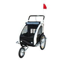 Remolque para Niños DOS PLAZAS con Amortiguadores Carro para Bicicleta CON BARRA INCLUIDA y Kit de Footing COLOR BLANCO y NEGRO  #carritosbebeorg http://carritosbebe.org/producto/remolque-para-ninos-dos-plazas-con-amortiguadores-carro-para-bicicleta-con-barra-incluida-y-kit-de-footing-color-blanco-y-negro/