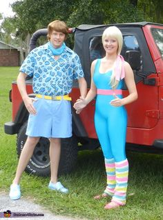 Pixar's Toy Story 3 Barbie and Ken Homemade Costume for Couples - Photo 2/3