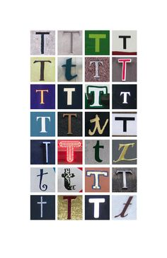 Typography letter T poster in color 11x17 by rbdesign on Etsy, $22.00 Abc Poster, Monogram Wall, Name Stickers, Letter T, Typography Letters, Lettering Design, Alphabet, Teddybear, Suits