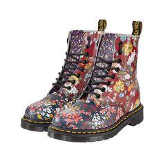 Boots Pascal Fl Mix Blumenmuster Schnürung