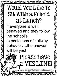 Fern Smith's Classroom Ideas Tuesday Teacher Tips: Transitions with a Yes Line Plus a FREEBIE!