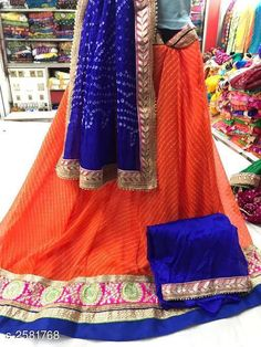 Lehengas Voguish Elegant Georegette Embroidered Lehengas Fabric: Lehenga -  Georegette   Choli - Georegette Dupatta -  Art Silk Size: Lehenga ( Waist Size ) - Up To 40 in Choli - 1 Mtr Dupatta - 2.3 Mtr  Flair - 3.5 Mtr Length: Lehenga - Up To 40 in Type: Lehenga - Semi - Stitched Choli - Un - Sttiched Description: It Has 1 Piece Of Lehanga 1 Piece Of Choli And 1 Piece Of Dupatta   Work : Lehenga - Embroidery Choli - Embroidery Dupatta - Lace Work Country of Origin: India Sizes Available: Un Stitched, Free Size, Semi Stitched *Proof of Safe Delivery! Click to know on Safety Standards of Delivery Partners- https://ltl.sh/y_nZrAV3  Catalog Rating: ★4 (4714)  Catalog Name: Tina Voguish Elegant Georegette Embroidered Lehengas Vol 1 CatalogID_348397 C74-SC1005 Code: 109-2581768-