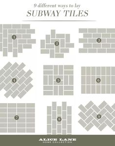 33 Lovely Design Ideas Subway Tile Patterns Backsplash Brokenshaker Com 9 Different Ways To Lay Tiles Shower Kitchen For - Home Design Backsplash Herringbone, Herringbone Pattern, Beadboard Backsplash, How To Tile Backsplash, Glass Subway Tile Backsplash, Black Backsplash, White Subway Tiles, Kitchen Decorating, Decorating Ideas