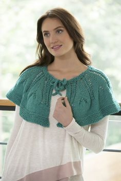 Ruffle or Not Capelet Free Knitting Pattern in Red Heart Yarns