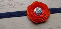 Chicago Bears Headband by thebitsybeau on Etsy