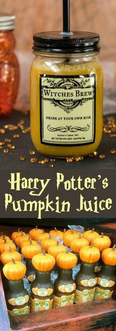 Vegan Halloween Recipe: Harry Potter's Pumpkin Juice from Ghoulish Gourmet