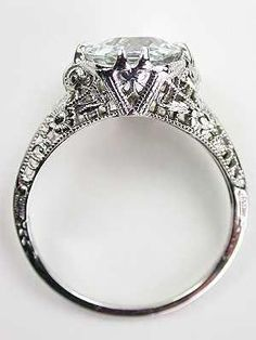 Vintage Filigree Aquamarine Engagment Ring - had something like this stolen years ago from my house, was my grandmothers :( Halo Engagement Rings, Antique Engagement Rings, Antique Rings, Antique Jewelry, Vintage Jewelry, Filigree Engagement Ring, Wedding Engagement, Wedding Rings Vintage, Vintage Rings