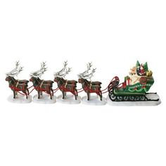 Department 56 North Pole Sleigh and Eight Tiny Reindeer -- You can get more details by clicking on the image. (It is an affiliate link and I receive commission through sales) Christmas Village Houses, Christmas Villages, Polaroid, Santa's Village, Christmas Accessories, Santa Sleigh, Department 56, Christmas Inspiration, Christmas Ideas