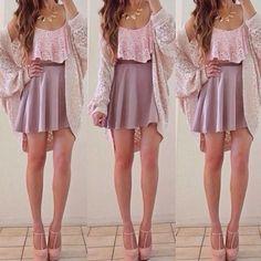 crop top. circle skirt