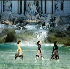 Fendi models walk on water in Italy's Trevi Fountain. Learn more and see two 360…