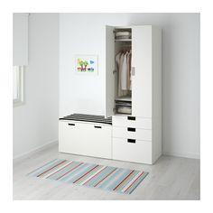 STUVA Oppbevaringskombinasjon m benk - hvit/hvit - IKEA