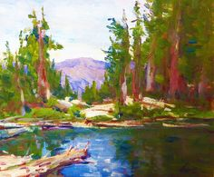 Lorenzo Chavez, Hidden Lake, 10 x 11, Oil
