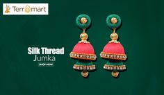 Dark Green & Tomato Pink Combinated with White Stone & Gold Bead Worked Silk Thread Double Decker Studded Jumka https://www.terramart.co.in/collections/earring-jumkha/products/dark-green-tomato-pink-colour-combinated-with-white-stone-gold-bead-worked-silk-thread-double-decker-studded-jumka