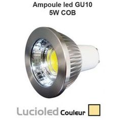 Ampoule GU10 LED COB 5W 45° variable Blanc chaud
