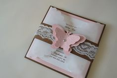 Lace Butterfly Vellum Invitation by BridalBijou on Etsy