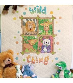 Dimensions Baby Hugs Quilt Stamped Cross Stitch Kit Wild Thing