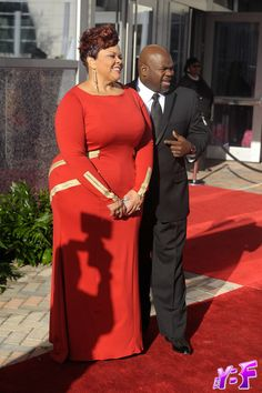 #Plus size red carpet #dressing  Singer and #Tyler #Perry Actors David and #Tamela #Mann.