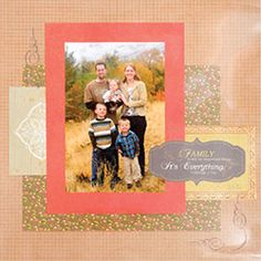 Welcome to Club #SEI #scrapbook #layout #fall #family
