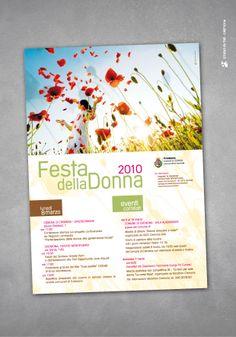 Festa della Donna locandina © Studio Pi Tre (Cremona - Italy)