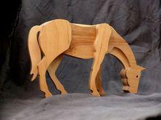 Caballo de madera juguetes de madera caballo estatuilla caballo juguetes figuritas coleccionables caballo decoración madera contrachapada yegua estatua cumpleaños regalos madera contrachapada mare