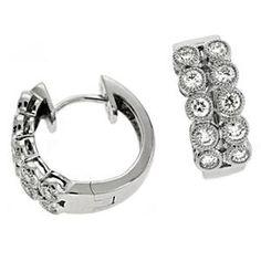 14K White Gold 0.51cttw Round Diamond Earring