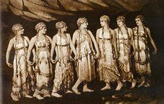 """Scène de """"L'Après-midi d'un faune"""" de Debussy. Costumes de Léon Bakst (1916) by Yvette Gauthier, via Flickr"""