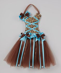Take a look at this Brown Leopard Dress Bow Holder by Little Gem on #zulily today!