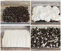 Oreo Dirt Cake - layers of creamy, white chocolate pudding, cream cheese, whipped cream and more. This delicious and addicting dessert is cool, cream and perfect for Oreo lovers Oreo Pudding Pies, Oreo Pudding Dessert, Chocolate Pudding, Oreo Dirt Pudding, Chocolate Cakes, Easter Dirt Cake Recipe, Oreo Dirt Cake, Dirt Cake Recipes, Fun Easy Recipes