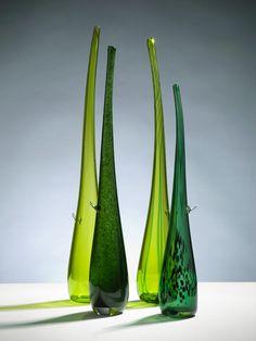 Junction Art Gallery - Elin Isaksson 'Shoots' blown glass £160.00 each http://www.junctionartgallery.co.uk/artists/glass/elin-isaksson/shoots