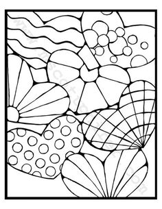 Adult Coloring Pages Hearts by mscottfun on Etsy Colouring Pics, Cool Coloring Pages, Coloring Pages For Kids, Coloring Books, Kids Coloring, Coloring Sheets, Pattern Coloring Pages, Printable Coloring Pages, Valentines Day Coloring Page