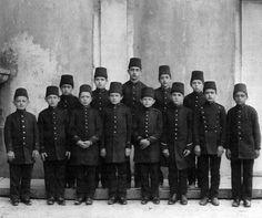 Students of Military Academy Kuleli (Üsküdar, Istanbul).  Ca. 1900.