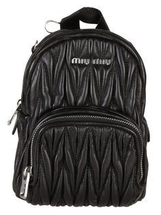 4bbd214380 MIU MIU Miu Miu Mini Matelassé Nappa Leather Backpack.  miumiu  bags   leather  backpacks