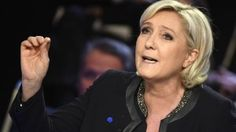 French presidential election candidate for the far-right Front National (FN) party Marine Le Pen gestures as she speaks during a debate organised by the French private TV channels BFM TV and CNews, between the eleven candidates for the French presidential election, on April 4, 2017 in La Plaine-Saint-Denis. / AFP PHOTO / POOL / Lionel BONAVENTURE        (Photo credit should read LIONEL BONAVENTURE/AFP/Getty Images)