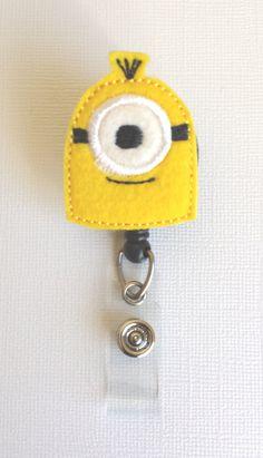 Minion ID Badge: https://www.etsy.com/listing/182342126/yellow-minion-inspired-felt-badge-reel
