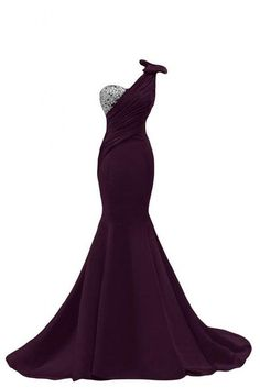 Prom Gown,Grape Prom Dresses,One Shoulder Evening Gowns,Simple Formal