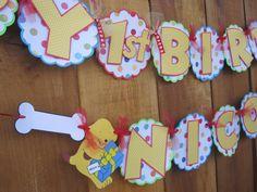 Spot the Dog Birthday Banner idea Dog Birthday, 2nd Birthday Parties, Birthday Ideas, Dog Themed Parties, Toy Story Party, Childrens Party, Party Planning, First Birthdays, Party Time