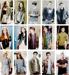 Lydia, Allison, Scott, Stiles &  Derek through 1, 2, and 3a I think that season 2 was the best for girls... And season 3a was the best for the guys. They look soooo grown up!!
