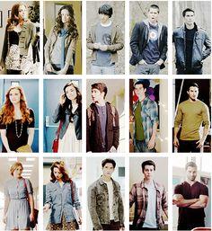 Lydia, Allison, Scott, Stiles &  Derek through 1, 2, and 3a