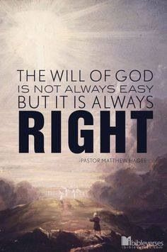 God is always right