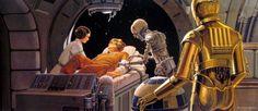 Ralph McQuarrie - Star Wars - TESB: A moment of tender kinship in ...